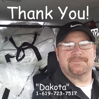 Dakota on his way to deliver Fluff and Fold orders to our great customers. Always Free Pick up and Free Delivery!